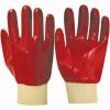 Перчатки»РЕДКОЛ» (основа джерси-100% хлопок, ПВХ покрытие красного цвета)