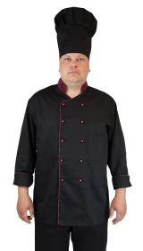 Куртка шеф-повара черн/бордо
